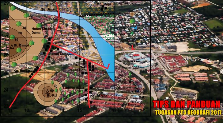 Tips Kerja Kursus PT3 Geografi 2017 Peta Lakar