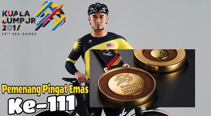Pemenang Pingat Emas 111 Malaysia Azizulhasni Awang