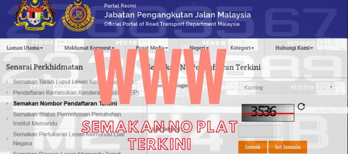 No Plat Terkini Pendaftaran Kenderaan Jpj Online